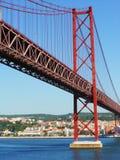 Ponte del porto a Lisbona, Portogallo Immagini Stock Libere da Diritti