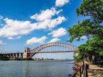 Ponte del portone dell'inferno a New York immagine stock