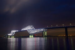 Ponte del portone di Tokyo al crepuscolo Immagini Stock Libere da Diritti