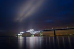 Ponte del portone di Tokyo al crepuscolo Fotografia Stock Libera da Diritti
