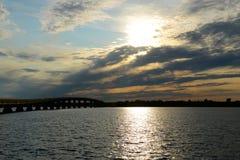 Ponte del punto di Rouses, Upstate New York, U.S.A. Fotografia Stock