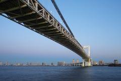 Ponte del Rainbow, baia di Tokyo Fotografie Stock