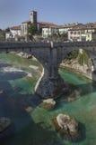 Ponte del ` s del diavolo in Cividale Fotografia Stock Libera da Diritti