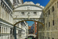 ponte del Sospiri,广场Sant。马尔科, Venize,意大利 图库摄影