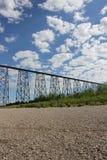 Ponte del treno Fotografie Stock Libere da Diritti