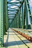 Ponte del treno. Fotografia Stock