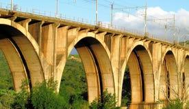 Ponte del treno fotografia stock
