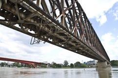 Ponte del treno a Belgrado Immagine Stock Libera da Diritti