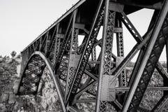 Ponte del treno della trave di acciaio Fotografia Stock Libera da Diritti