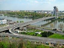 Ponte del UFO, Bratislava, Slovacchia Immagine Stock Libera da Diritti