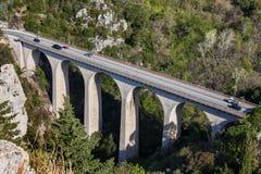 Ponte del viadotto del diavolo in Francia immagine stock