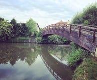 Ponte del villaggio Fotografia Stock Libera da Diritti
