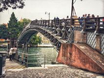 Ponte dell`Accademia bridge stock photography