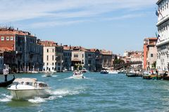 Ponte dell`Accademia - Grand Canal Canal Grande stock photography