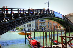 Ponte dell`Accademia Grand Canal Venice Italy Royalty Free Stock Image