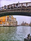 The Ponte dell`Accademia bridge royalty free stock photography