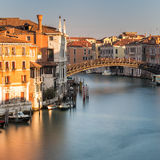 Ponte dell'Accademia over Garnd Canal in Venice Royalty Free Stock Image