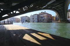 Ponte dell`Accademia in Venice stock images