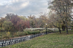 Ponte dell'arco in autunno tardo Fotografia Stock