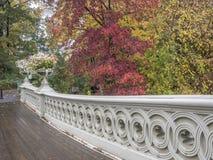 Ponte dell'arco, Central Park, New York CIT fotografia stock libera da diritti
