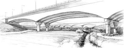 Ponte dell'arco sopra il ruscello Fotografie Stock Libere da Diritti