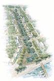 Ponte dell'arco sopra il ruscello Fotografia Stock Libera da Diritti