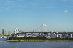 Ponte dell'arcobaleno in Odaiba Fotografia Stock Libera da Diritti