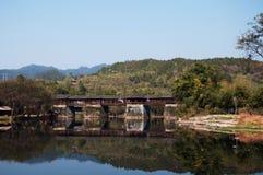Ponte dell'arcobaleno a wuyuan Fotografie Stock Libere da Diritti