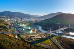 Ponte dell'arena della La a Muskiz fotografie stock libere da diritti