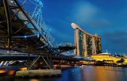 Ponte dell'elica di Singapore fotografie stock libere da diritti