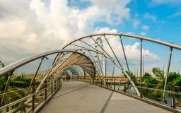 Ponte dell'elica di Singapore Immagine Stock Libera da Diritti