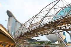 Ponte dell'elica di Singapore Fotografia Stock Libera da Diritti
