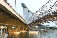 Ponte dell'elica di Singapore Fotografia Stock