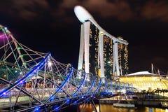 Ponte dell'elica, Marina Bay Sand Fotografie Stock Libere da Diritti