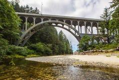 Ponte dell'insenatura del capo Fotografia Stock