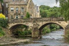 Ponte dell'Irlanda, Bingley, Yorkshire fotografie stock libere da diritti