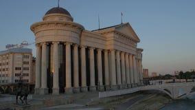Ponte dell'occhio di arte di Skopje video d archivio