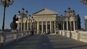 Ponte dell'occhio di Skopje video d archivio