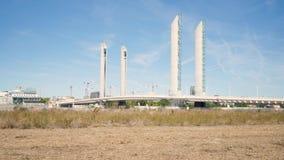 ponte dell'Verticale-ascensore in Bordeaux video d archivio