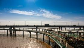 Ponte della baia del ` s Hangzhou della Cina Immagine Stock