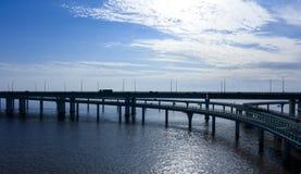 Ponte della baia del ` s Hangzhou della Cina fotografia stock