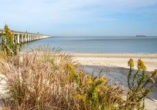 Ponte della baia di Chesapeake Fotografia Stock
