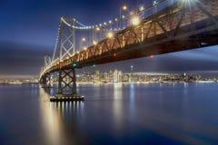 Ponte della baia di San Francisco Immagini Stock