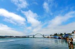 Ponte della baia di Yaquina Immagine Stock Libera da Diritti