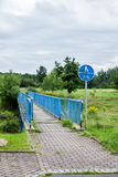 Ponte della bicicletta o del pedone fotografia stock libera da diritti