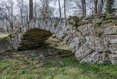 Ponte della cascata nel parco di Pavlovsk Fotografia Stock