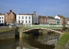 Ponte della città di Bridgwater fotografia stock libera da diritti