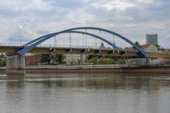 Ponte della città di Francoforte Oder immagini stock