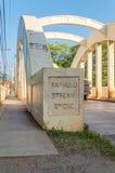Ponte della corrente di Anahulu della città di Haleiwa Fotografia Stock Libera da Diritti