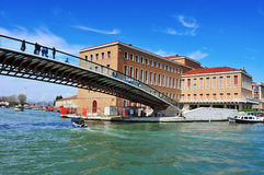 Ponte della Costituzione over the Grand Canal in Venice, Italy Royalty Free Stock Images